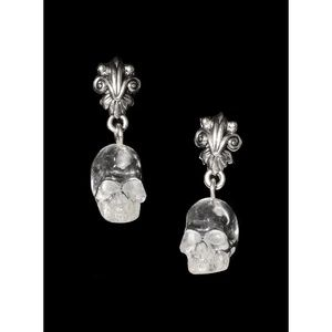 Baroque Beauty Skull Earrings